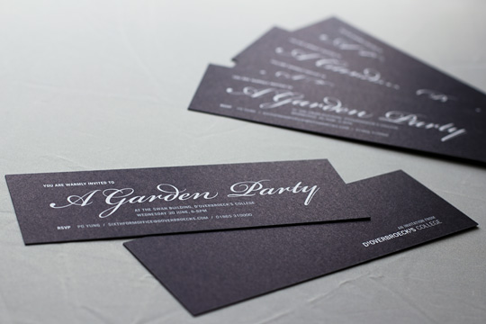 d'Overbroeck's College Garden Party invitation design